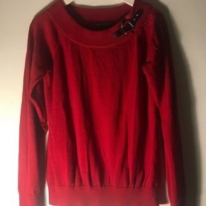 Red Ralph Lauren buckle sweater
